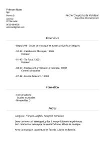 Exemple de CV